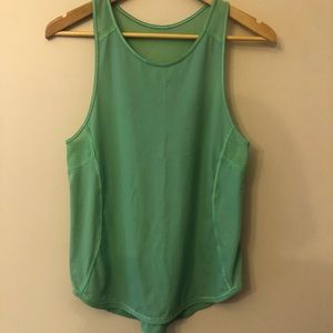 Green athletic tank top